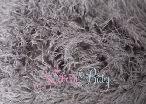 Taupey Grey CRINKLY Long Pile Fur ~ 3 sizes - HALF PRICE!